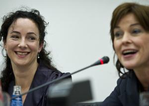 Femke Halsema en Jolande Sap