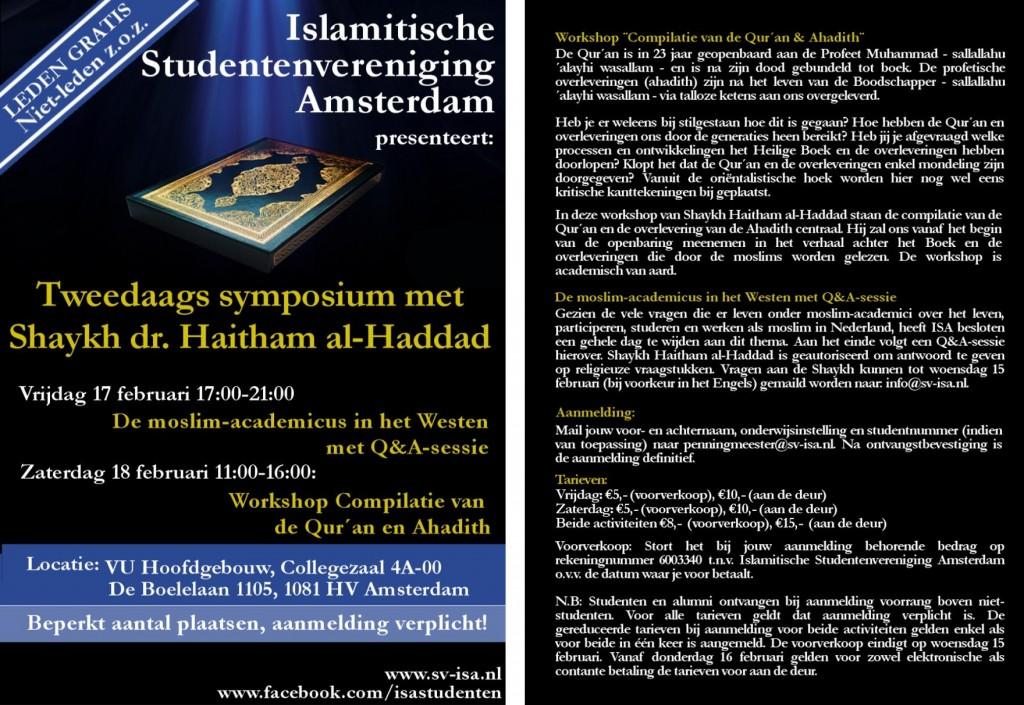 Plaatsen Rond Amsterdam.Vu Bestuur Overrompeld Door Rumoer Rond Shariageleerde Haitham Al