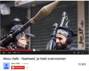 """Januari 2014. """"Abou Hafs"""" plaatst een jihadistische nasheed op zijn eigen YouTube-kanaal."""