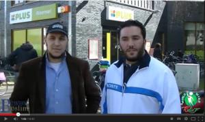 Abou Hafs (links) en Abou Dhar als zelfbenoemde detectives in Eindhoven.