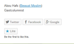 5 juni 2005. Abou Hafs ondertekent een bijdrage aan De Ware Religie als gastcolumnist.