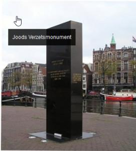 René Danen van Nederland Bekent Kleur koos het Joods Verzetsmonument als plek voor de jaarlijkse herdenking.