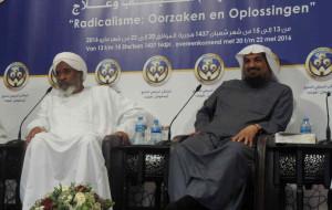 Abdul Mohsin al-Mutairi (rechts) met Imad Eldin Bakri Ismail. Een dag voor zijn komst naar Eindhoven zetten de Amerikanen hem op een terreurlijst.